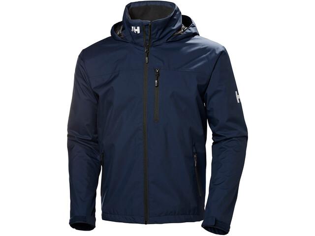 Helly Hansen Crew Hooded Jacket Men, blauw